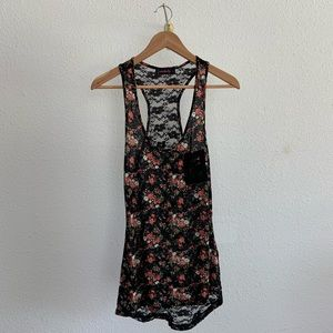 Annabelle Floral Lace Back Tank Top
